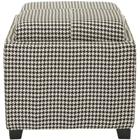 black and white storage ottoman home decorators collection ottomans living room