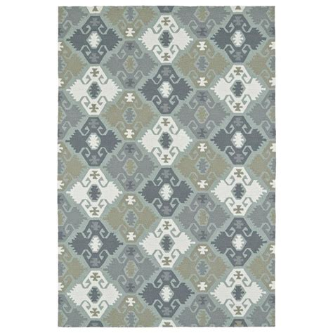 Novelty Area Rugs Shop Kaleen Habitat Pewter Green Rectangular Indoor Outdoor Handcrafted Novelty Area Rug Common