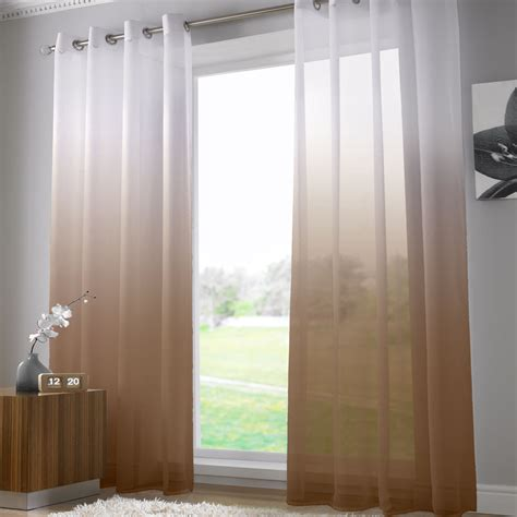 Bright White Curtains Bright Modern Net Voile Curtain Panel Eyelet Grommet Panel White Pink Blue Ebay