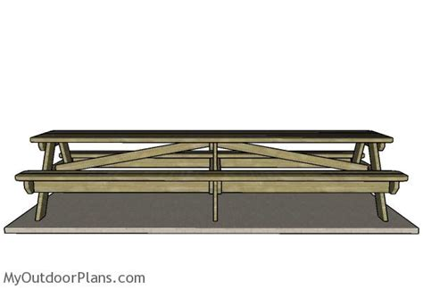 foot picnic table plans myoutdoorplans