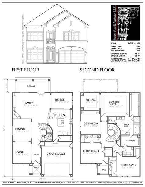 floor plan of two story house small modern house designs and floor plans with master
