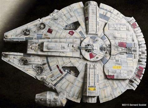 millennium falcon paper model an impressively detailed star wars millennium falcon