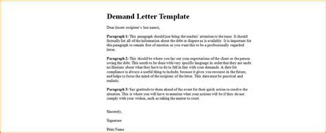 Demand Letter 1st Year 11 Demand Letter Template Budget Template Letter