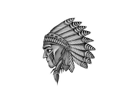 indian chief tattoo designs indian chief wolf image 325