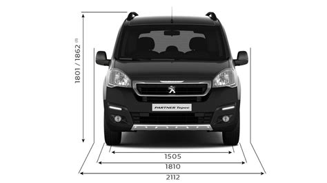 peugeot partner dimensions peugeot partner tepee technical data peugeot uk