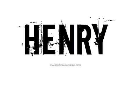 henry name tattoo designs
