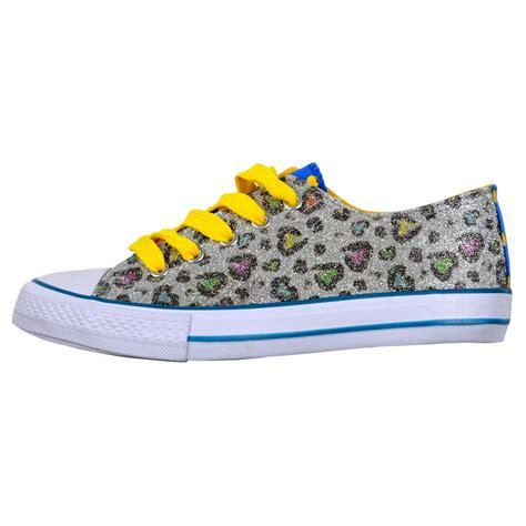 glitter canvas shoes deks funky glitter plimsolls canvas sneaker shoes