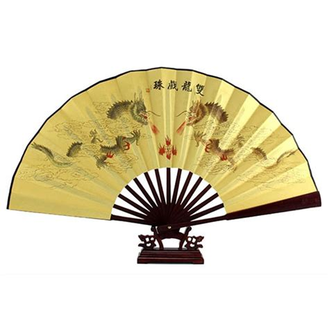 bamboo hand fan ribs dragon poem oriental painting rosewood bamboo ribs folding