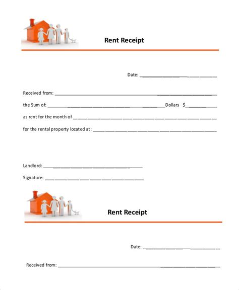landlord rent receipt template rent receipt 16 free word pdf documents