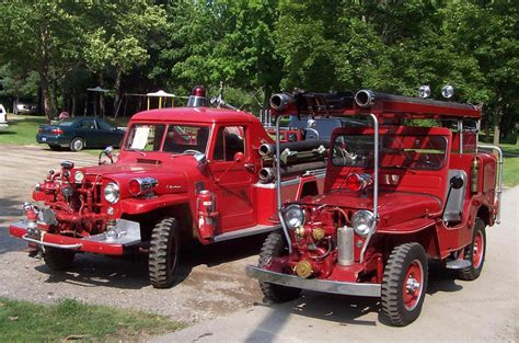 jeep fire truck the cj3a page fire jeeps and trucks