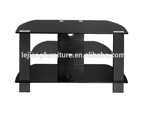 small size tempered glass cable box dvd player shelf tv
