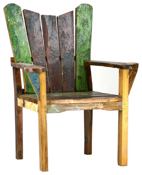 reclaimed boat wood chair rustic outdoor lounge chairs