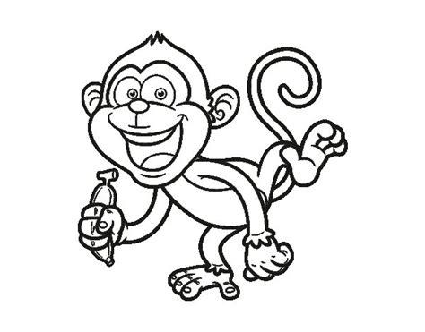 dibujos para colorear de monos image gallery mono dibujo