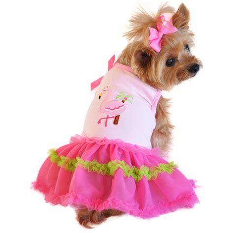 palm dogs pink flamingo and palm tank dress petimpulse