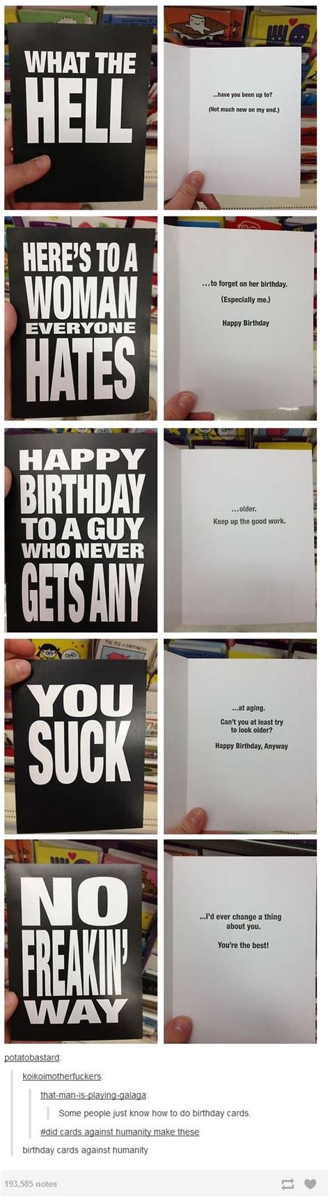 Cards Against Humanity Birthday Birthday Cards Against Humanity Tumblr Know Your Meme