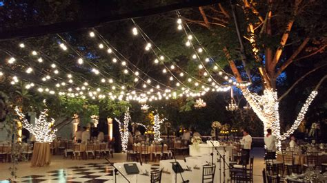 Hanging Outdoor Lights String Hanging Patio String Lights A Pattern Of Perfection Yard Envy