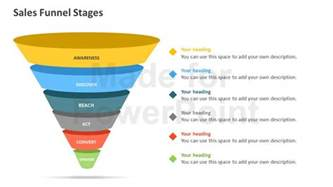 powerpoint funnel template sales funnel stages powerpoint template