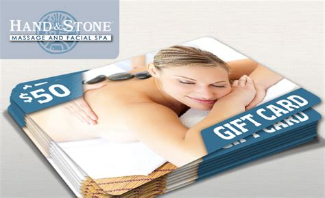 Hand And Stone Gift Card - 50 gift card to hand stone massage and facial spa dallas