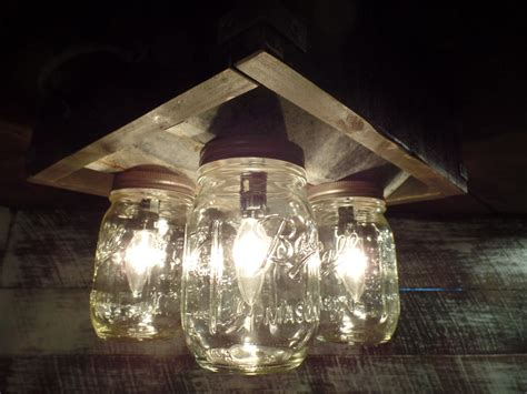 Ceiling Light Fixture Box Handmade Jar Barn Box Farmhouse Ceiling Light Fixture 4