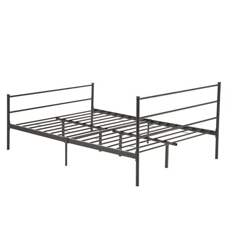 Metal Bed Frames Size Metal Bed Frame Platform Headboards 6 Leg Bedroom Furniture Ebay