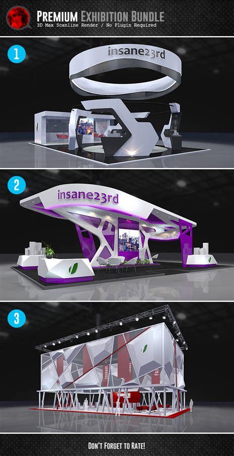 3d Model Bundle Premium Exhibition Design Booths Exhibition Panel Design Template