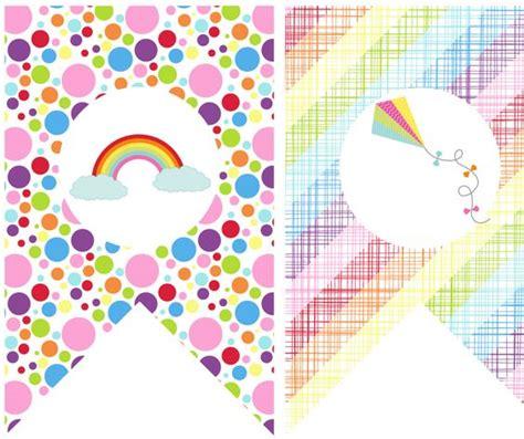 free printable rainbow banner free rainbow party banner printables freebies