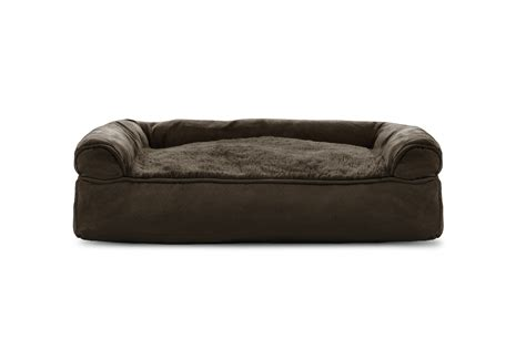 pillow pet bed furhaven plush suede pillow sofa dog bed pet bed ebay