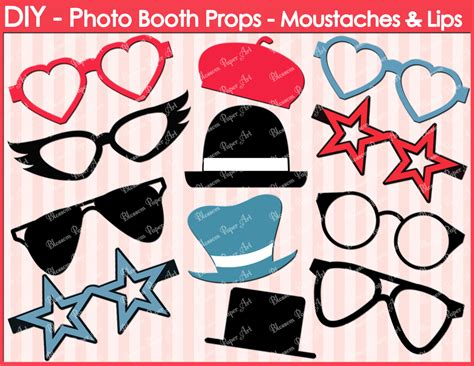 Handmade Photo Booth Props - printable photo booth props diy glasses hats
