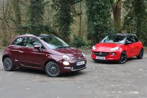 Fiat Adam City Chic Fiat 500 Vs Vauxhall Adam