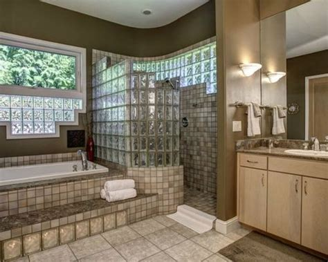 glass block designs for bathrooms glass block walk in shower home design ideas pictures