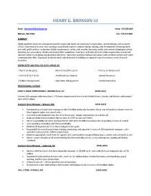 Sle Resume Supervisor Position by Resume Exle Retail Store Manager Resume Exles