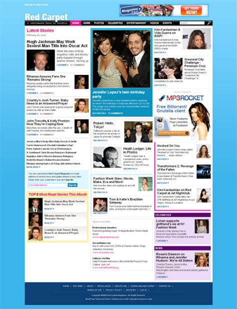 blogger templates for celebrities template blog seo untuk blog cewek dan hiburan contoh blog
