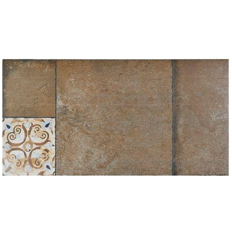 Maison Brown 1 Merola Tile Maison Brown 11 In X 22 1 8 In Porcelain