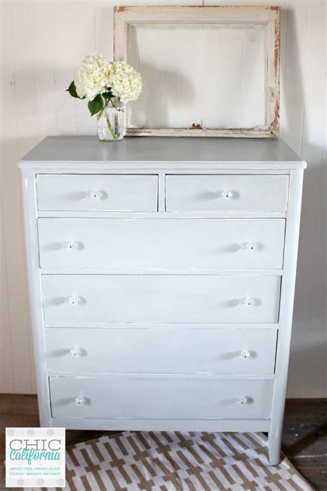 Light Gray Dresser by Before And After Milk Paint Dresser In Galvanized Chic