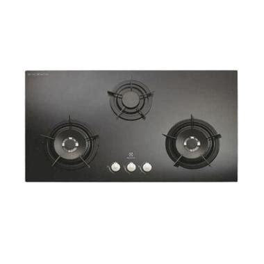 Kompor Gas Kaca Gmc jual electrolux egg 9637ek kompor tanam gas kaca hitam
