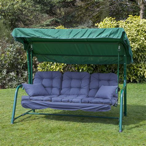 outdoor garden swing seat alfresia outdoor reclining hammock 3 seater swing bench