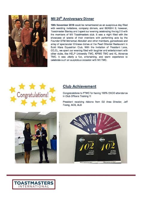 Friendship Toastmasters Club Newsletter Issue 5 2016 2017 Toastmasters Newsletter Template