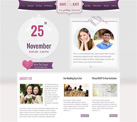 Wedding Site Template wedding website templates e commercewordpress