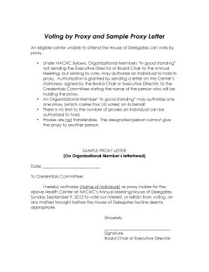 proxy letter template letter template 2017