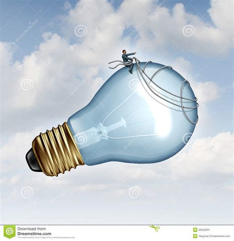Flying On The Be Creative And Inovatif Penerbit innovation guidance stock image image 35522601