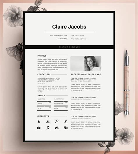 cv for ms in us creative resume template cv template instant