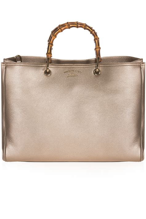 Gucci Bamboo Horsebit Tote by Gucci Large Bamboo Shopper Tote Bag In Metallic Lyst