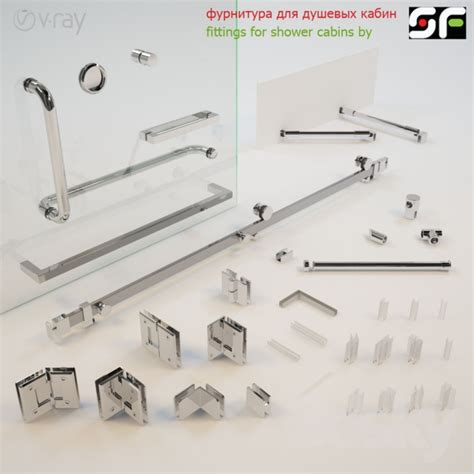 Shower Doors Parts Accessories 3d Models Shower Accessories For Glass Shower Enclosures
