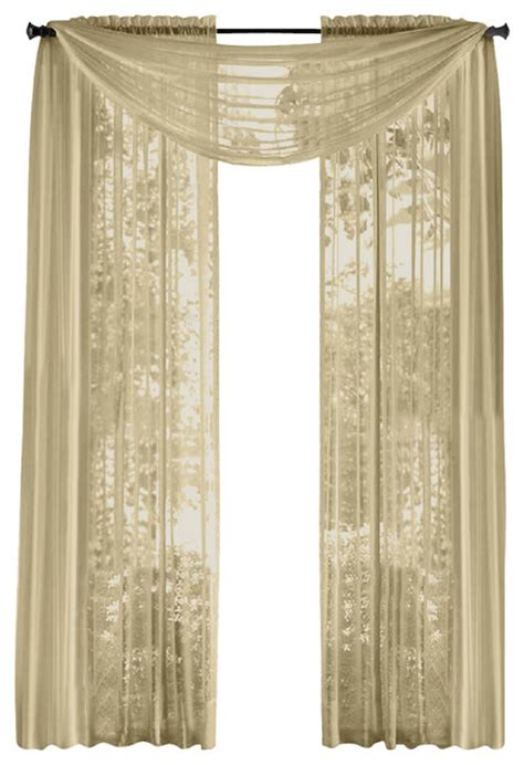 taupe sheer curtains hlc me pair of sheer panels window treatment curtains