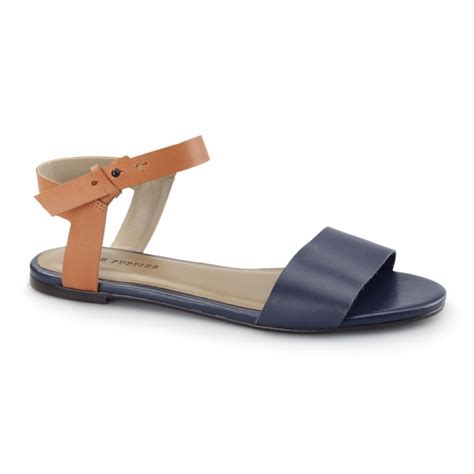 Flatshoes Pnc 3 hush puppies meg riva flat sandals navy orange shuperb co uk