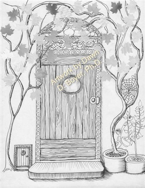 fairy door coloring page fairy houses and fairy doors vol 3 and 4 individual