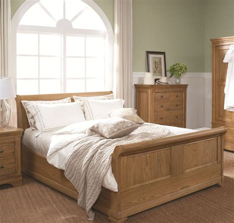 oak bedroom sets king size beds loire oak 5ft king size sleigh bed