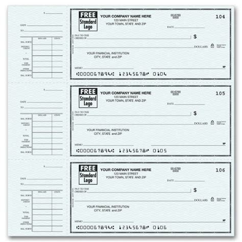 56300n End Stub Personal Checks Free Shipping Personal Check Template