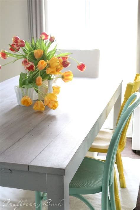 ikea table hack the and mismatched chairs on