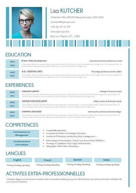 Resume Sample In Ms Word by Cv Secr 233 Taire M 233 Dicalel Cr 233 Er Son Cv Upcvup